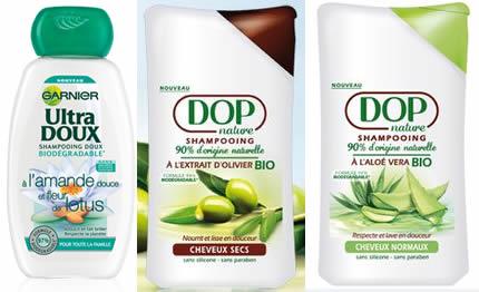 liste shampoing doux