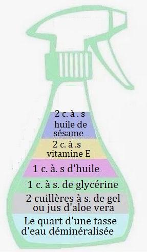 Recette vaporisateur hydratant cheveux bouclés aloe vera