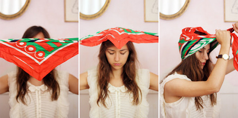 comment se coiffer d'un foulard