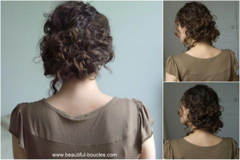 Comment faire un chignon bouclé coiffé-décoiffé ? (tutoriaux vidéos et photos) - Cheveux Bouclés ...