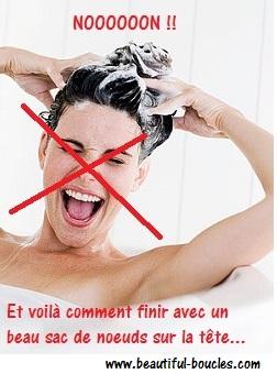 Conseils position shampooing cheveux bouclés