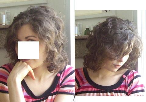 Mes cheveux au saut du lit, avant la pose du masque Phytocitrus (AS effectué la veille)