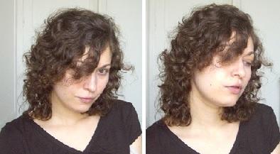 Mes cheveux après l'application du masque et séchage à l'air libre.