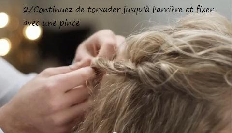 Attacher ses cheveux bouclés : méli-mélo de torsades et chignon tressé