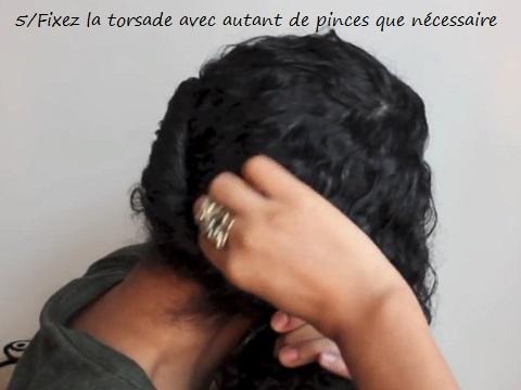 Tutoriel en images : Couronne/Auréole torsadée sur cheveux bouclés ou frisés