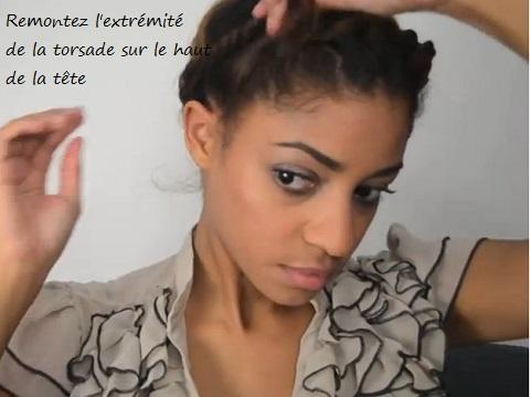 Tutoriel Couronne/Auréole torsadée pour cheveux bouclés ou frisés (2)