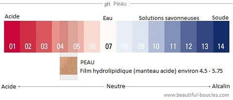 Echelle de pH : acide, neutre et alcalin