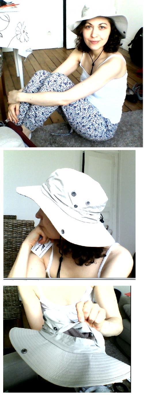 protection cheveux soleil - chapeau textile avec indice SPF