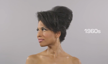 Superbe chignon banane annees 60 version afro !