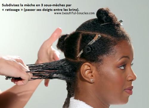 Définissez les boucles sur cheveux crépus avec la même technique
