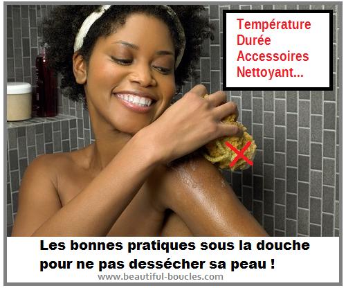 bonnes pratiques sous la douche pour ne pas dessécher sa peau
