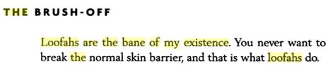 """Les fleurs de douche sont le drame de mon existence. le but n'est pas de détruire la barrière cutanée normale mais c'est ce qu'elles font. (extrait """"The Beautiful Skin Workout"""" par le Dr Copeland)"""