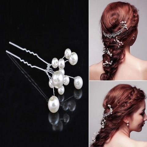 accessoires bijoux perle strass coiffures fête cheveux bouclés