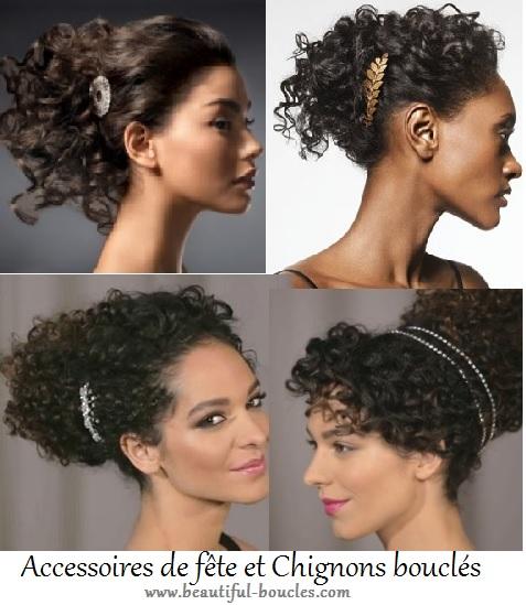 coiffures de fete cheveux boucles accessoires bijoux