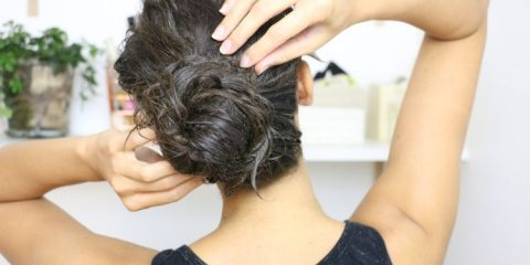 appliquer un masque sur cheveux secs