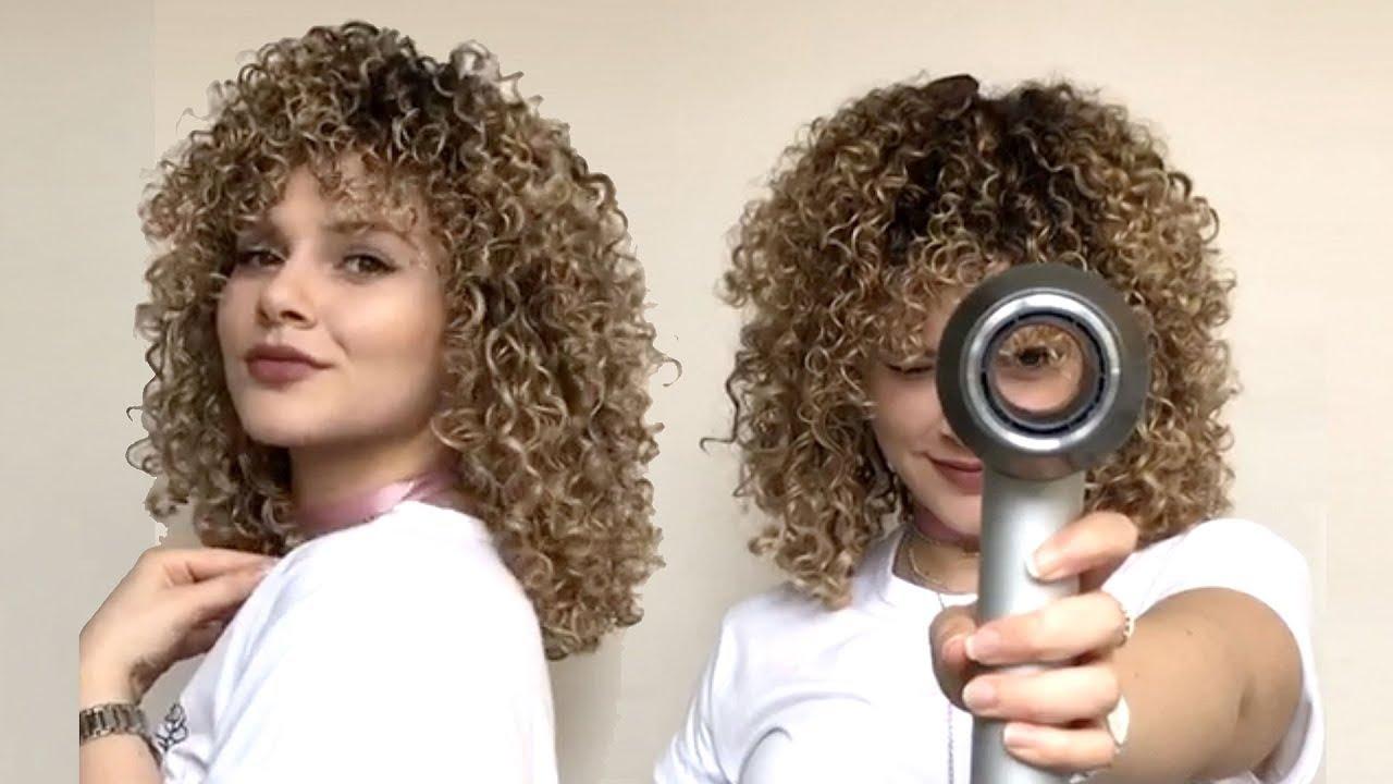 Comment sécher les cheveux bouclés avec un diffuseur pour