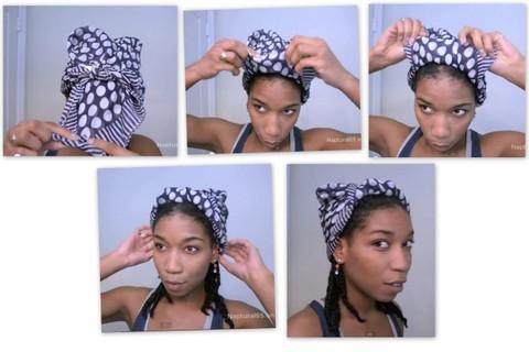 comment nouer un foulard dans ses cheveux fa on turban 5 possibilit s. Black Bedroom Furniture Sets. Home Design Ideas
