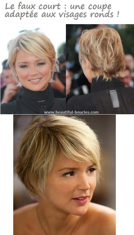 Coupe de cheveux tres courte femme visage rond